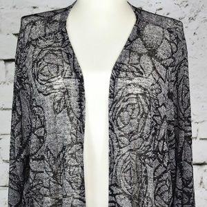New LuLaRoe XL Noir Sarah Rose Black & White